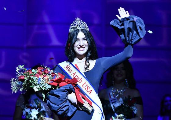 صور وفيديو: طالبة طب عراقية تفوز بتاج ملكة جمال العرب بأميركا صورة رقم 1