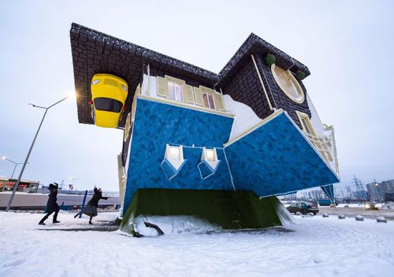 بالفيديو والصور.. منزل فريد من نوعه صمم بالمقلوب صورة رقم 1