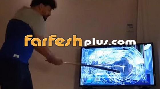 فيديو صادم.. خسر فريقه المفضل فحطم 26 تلفازا!! صورة رقم 1