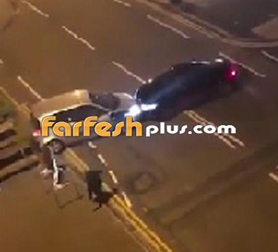 فيديو جنوني: سائق غاضب يصدم سيارة أخرى عمدا ويدهس السائق الهارب!  صورة رقم 2