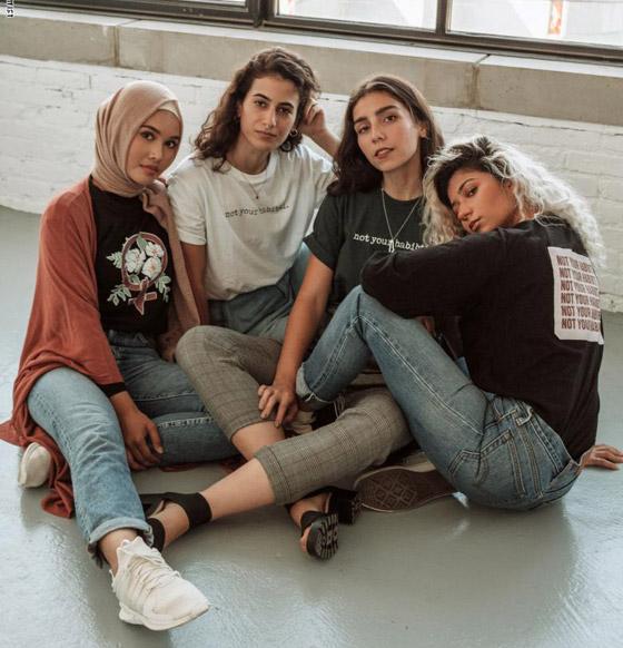 عبارة (لست حبيبتك) على أزياء مصممة فلسطينية للدفاع عن حقوق المرأة صورة رقم 2