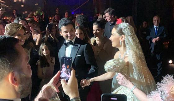 فيديو وصور زفاف ابن مُدير بنك لبنان بـ5 ملايين دولار وفستان العروس أسطوري صورة رقم 1