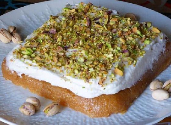 صورة رقم 7 - طريقة تحضير عيش السرايا الشهي والمميز لحلويات رمضان شرقية