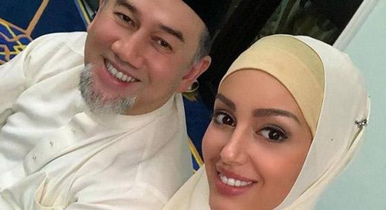 أول صور بعد الزواج لملك ماليزيا وزوجته ملكة الجمال صورة رقم 4