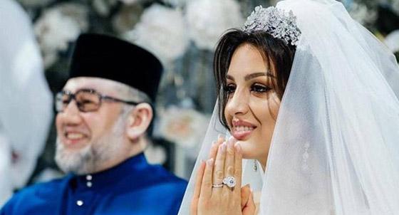 أول صور بعد الزواج لملك ماليزيا وزوجته ملكة الجمال صورة رقم 3