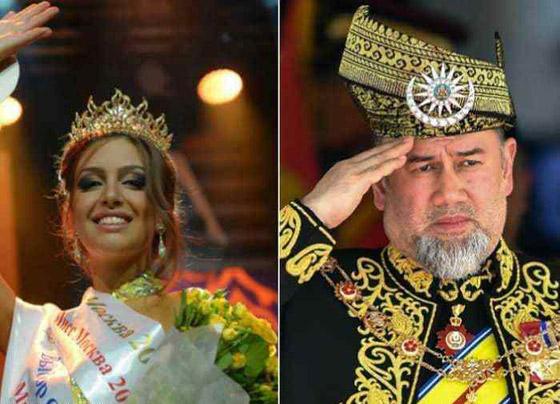 أول صور بعد الزواج لملك ماليزيا وزوجته ملكة الجمال صورة رقم 7