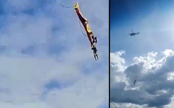 نهاية مأساوية لعسكريين كولومبيين انقطع حبلهما خلال عرض جوي