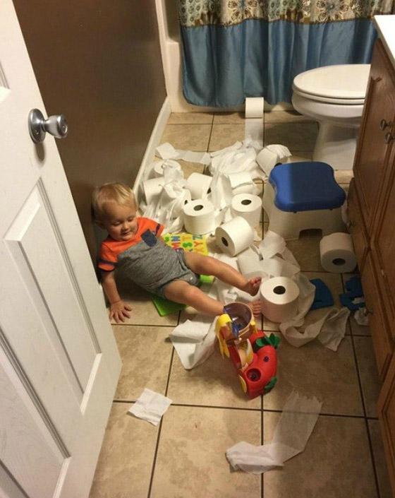 صور طريفة تظهر مدى جنون الأطفال الأشقياء ومشاكستهم صورة رقم 2