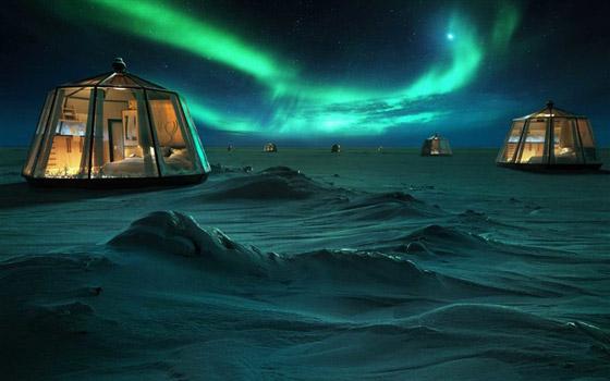 أكواخ زجاجية لمشاهدة أضواء القطب الشمالي بـ104 ألف دولار لليلة صورة رقم 1