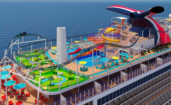 بالصور: ملعب غولف وسلة وأفعوانية وملاهٍ... مزايا رائعة في سفينة سياحية جديدة صورة رقم 2