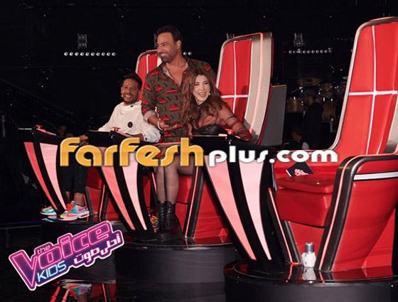 صورة رقم 13 - ذا فويس كيدز: نانسي تلعب مصارعة مع هشام اليمني وحماقي يعزف الجيتار