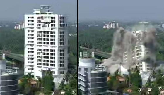 فيديو وصور: تفجير مجمعين سكنيين فاخرين في الهند بقرار من السلطة! صورة رقم 11