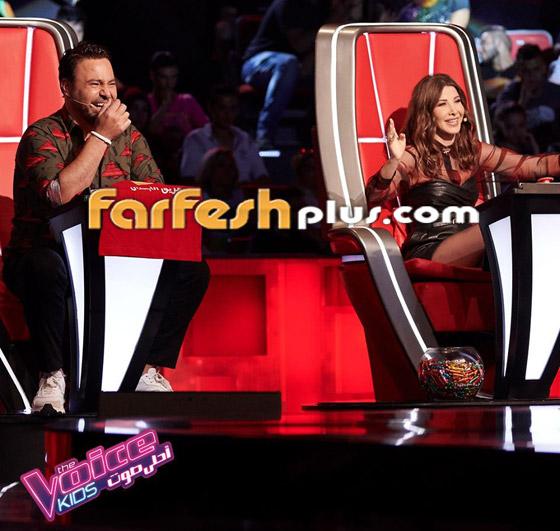 صورة رقم 7 - ذا فويس كيدز: نانسي تلعب مصارعة مع هشام اليمني وحماقي يعزف الجيتار