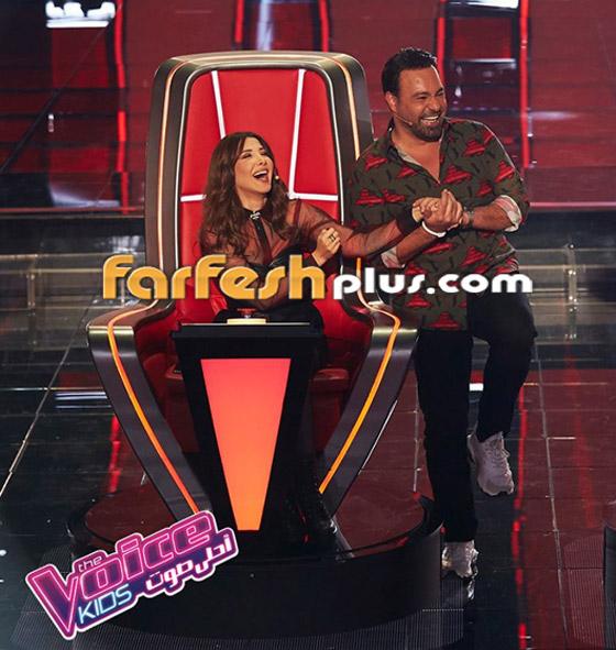 صورة رقم 2 - ذا فويس كيدز: نانسي تلعب مصارعة مع هشام اليمني وحماقي يعزف الجيتار