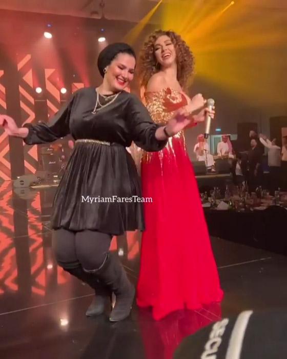 صورة رقم 4 - فيديو ميريام فارس في تحدي رقص شرقي مع معجبيها في الامارات