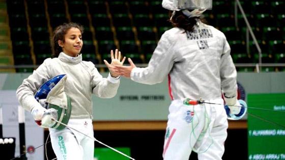 صورة رقم 5 - رغم صغر سنها: المبارزة السعودية (الحسناء الحماد) ربحت بطولات عالمية
