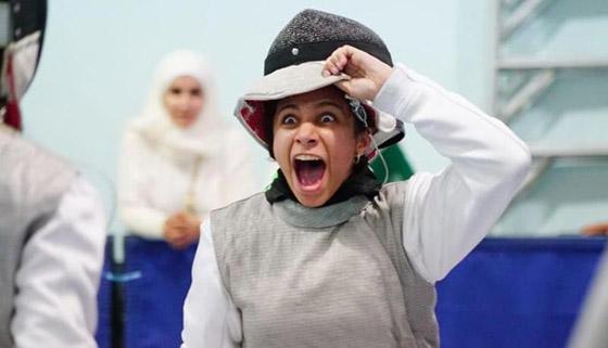 صورة رقم 2 - رغم صغر سنها: المبارزة السعودية (الحسناء الحماد) ربحت بطولات عالمية