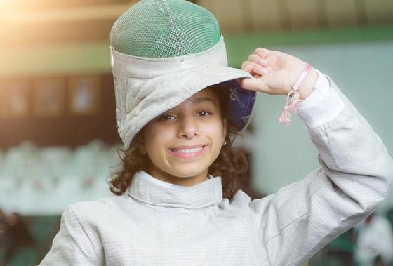 صورة رقم 3 - رغم صغر سنها: المبارزة السعودية (الحسناء الحماد) ربحت بطولات عالمية