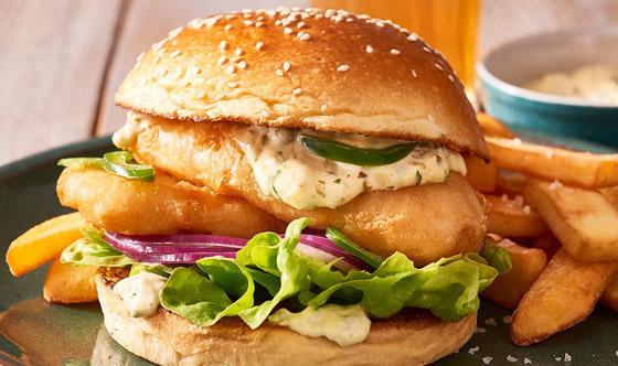 إليكم طريقة تحضير برجر السمك مع صلصة الترتار بطعم رائع ولذيذ صورة رقم 3