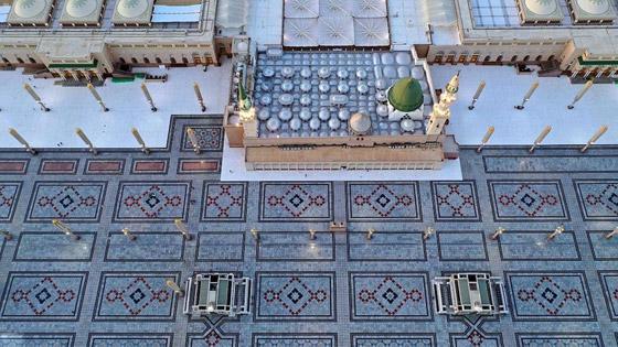 كورونا: شاهدوا الالتزام والوعي المجتمعي في المسجد النبوي! صور صورة رقم 4
