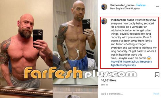 بسبب كورونا.. رياضي مفتول العضلات يفقد وزنه ويتحول لجسد نحيل! صورة رقم 1