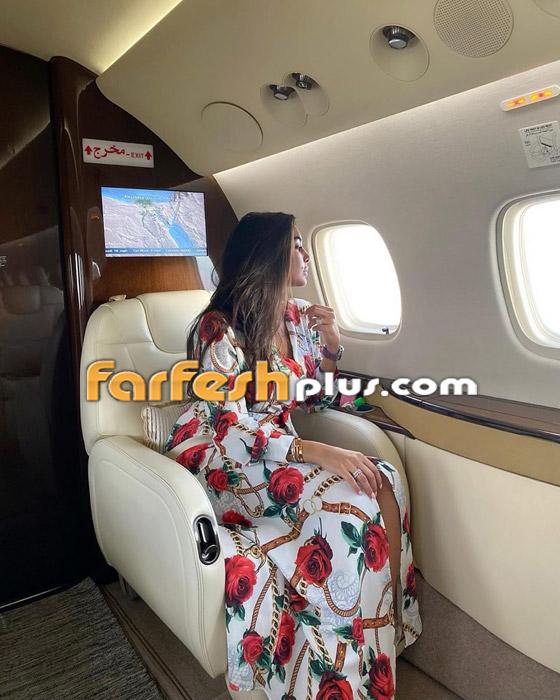 صور ياسمين صبري زوجة أحمد أبو هشيمة في طائرتها الخاصة صورة رقم 2