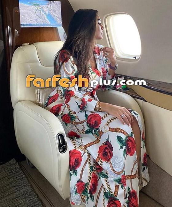 صور ياسمين صبري زوجة أحمد أبو هشيمة في طائرتها الخاصة صورة رقم 4