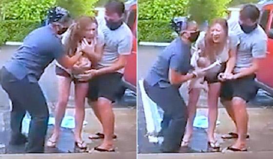 فيديو صادم ومثير: ولادة طفل أمريكي والأم واقفة على قدميها في الشارع! صورة رقم 1