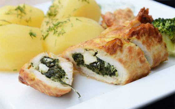 طريقة تحضير رولات الدجاج بالسبانخ والجبن للرجيم بطعم شهي ومميز صورة رقم 1