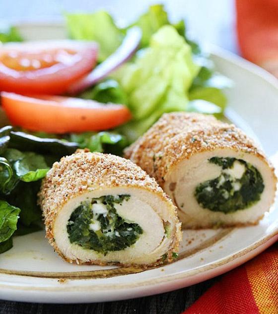 طريقة تحضير رولات الدجاج بالسبانخ والجبن للرجيم بطعم شهي ومميز صورة رقم 7