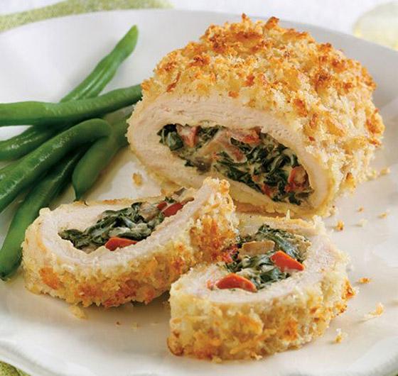 طريقة تحضير رولات الدجاج بالسبانخ والجبن للرجيم بطعم شهي ومميز صورة رقم 13