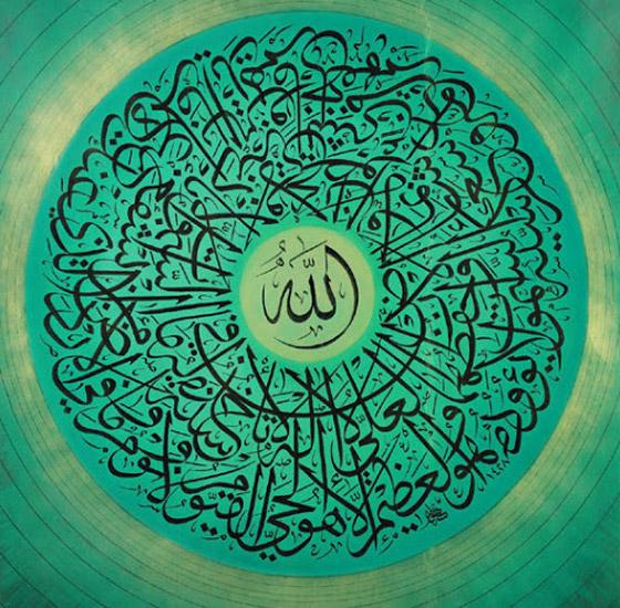 صور: خطاط ياباني يتميز بكتاباته المدهشة باللغة العربية وآيات قرآنية صورة رقم 18
