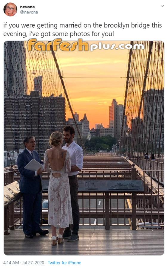 عابرة سبيل تخلد ذكرى زفاف زوجين في صورة نالت التعاطف والإعجاب! صورة رقم 1