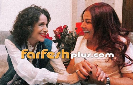 معايدة نادرة بعيد الأضحى من صباح الجزائري وشقيقتها سامية الجزائري صورة رقم 3