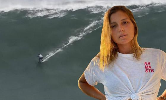 لقطة توقف القلب: برازيلية تحطم رقما قياسيا بركوب أكبر موجة أسطورية! صورة رقم 12