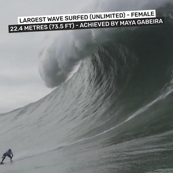 لقطة توقف القلب: برازيلية تحطم رقما قياسيا بركوب أكبر موجة أسطورية! صورة رقم 6