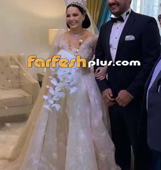 صور وفيديو ديانا كرزون بفستان الفرح ليلة زفافها والأمن يستدعي العريس! صورة رقم 6