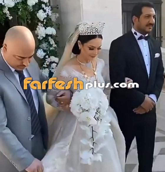صور وفيديو ديانا كرزون بفستان الفرح ليلة زفافها والأمن يستدعي العريس! صورة رقم 7