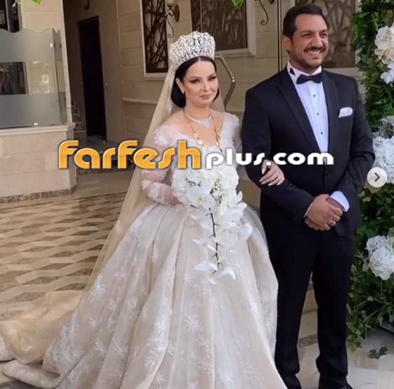 صور وفيديو ديانا كرزون بفستان الفرح ليلة زفافها والأمن يستدعي العريس! صورة رقم 8