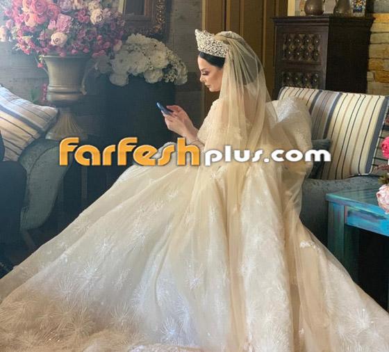 صور وفيديو ديانا كرزون بفستان الفرح ليلة زفافها والأمن يستدعي العريس! صورة رقم 9