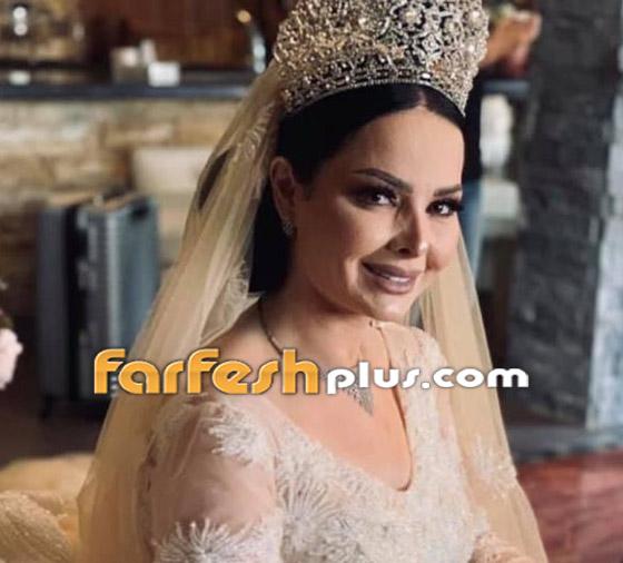 صور وفيديو ديانا كرزون بفستان الفرح ليلة زفافها والأمن يستدعي العريس! صورة رقم 10