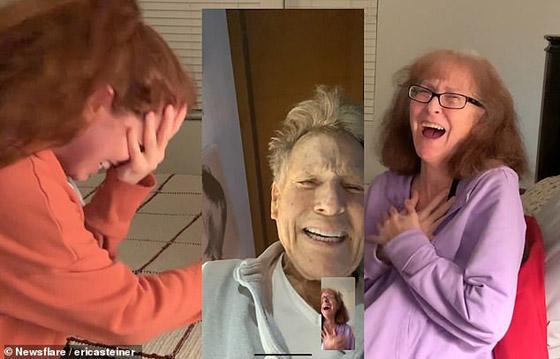صورة رقم 1 -  فيديو مؤثر: كيف فاجأ نجم عالمي احدى معجباته المصابة بالزهايمر؟