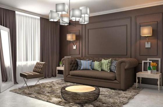 صورة رقم 3 - ديكورات غرفة الجلوس المودرن في الشتاء
