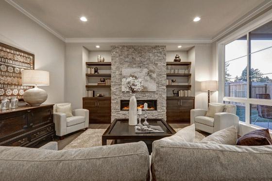 صورة رقم 4 - ديكورات غرفة الجلوس المودرن في الشتاء