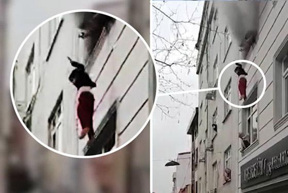 صورة رقم 3 - فيديو مؤثر لامرأة تركية تلقي أطفالها من النافذة لإنقاذهم من حريق بالمنزل