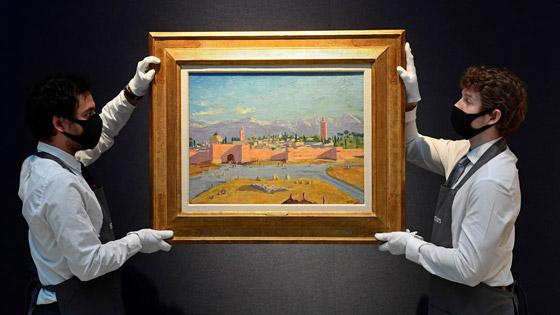 صورة رقم 2 - لوحة رسمها تشرشل لمسجد بالمغرب تباع بـ9.7 مليون دولار