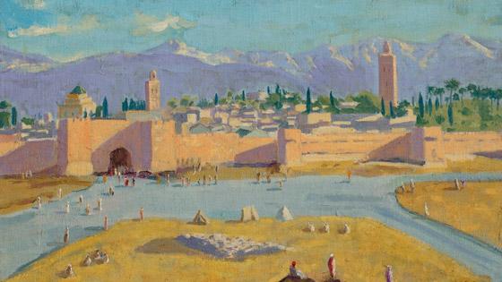 صورة رقم 1 - لوحة رسمها تشرشل لمسجد بالمغرب تباع بـ9.7 مليون دولار