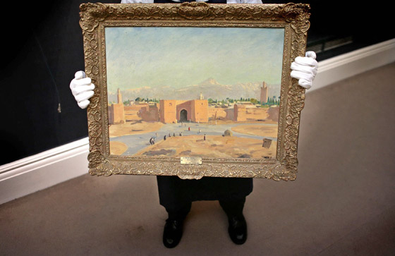 صورة رقم 3 - لوحة رسمها تشرشل لمسجد بالمغرب تباع بـ9.7 مليون دولار