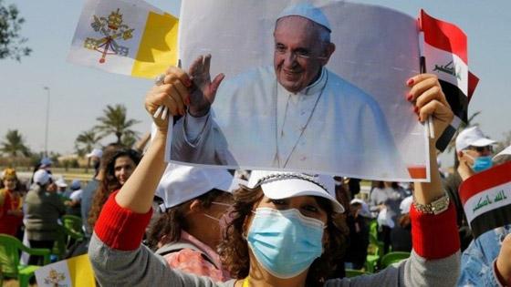 صورة رقم 16 - فيديو وصور: بابا الفاتيكان فرنسيس يصل إلى العراق في زيارة تاريخية