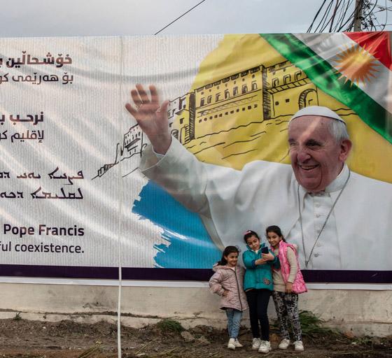 صورة رقم 20 - فيديو وصور: بابا الفاتيكان فرنسيس يصل إلى العراق في زيارة تاريخية